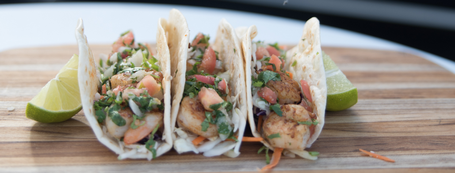Fresh Street Style Menus like Tacos con Camaron (Shrimp)